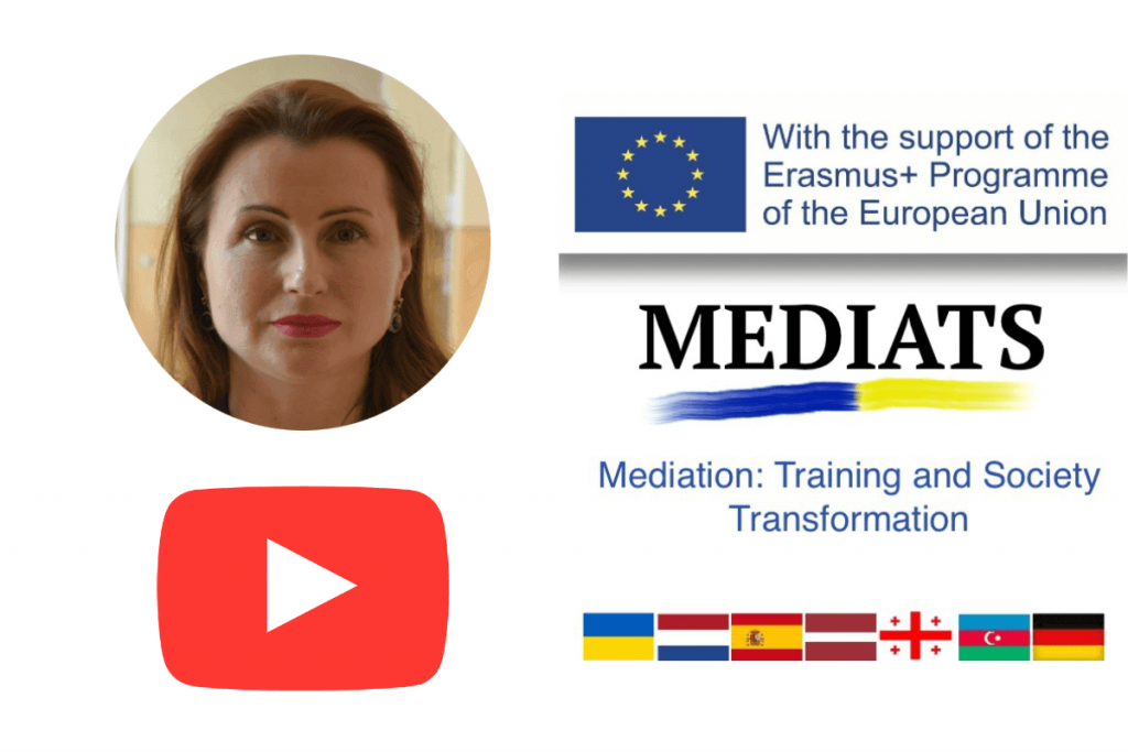 Public speech as a component of the promotion of mediation in the Chernivtsi region and Ukraine as a whole.